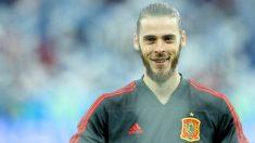 De Gea, antes de un partido con España en el Mundial de Rusia. (Getty)