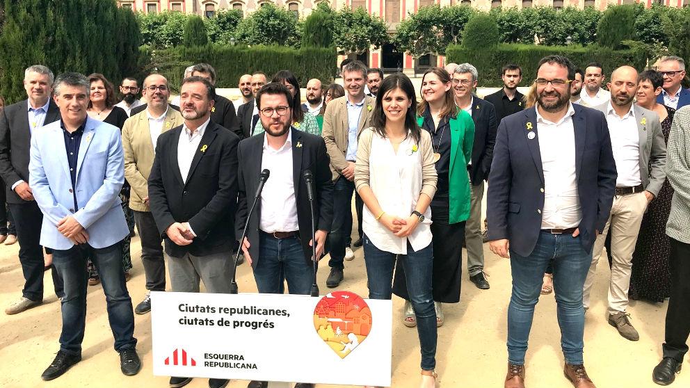 Miembros de ERC en un acto (Foto: Europa Press).