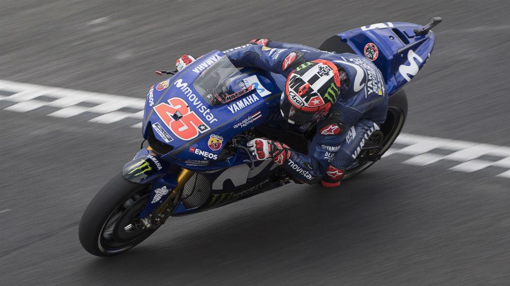Maverick Viñales ha sido el piloto más rápido en la segunda sesión de entrenamientos libres del GP Holanda MotoGP. (Getty)
