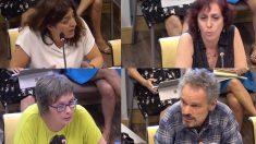 Los comparecientes Celia Mayer, Rosa María Domíguez, Nieves Salobral y Luis Eduardo Molina.
