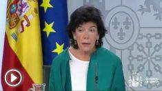Isabel Celaá, ministra portavoz del Gobierno