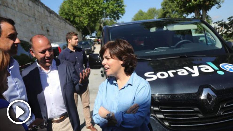 SorayaSáenz de Santamaría este viernes en Zamora