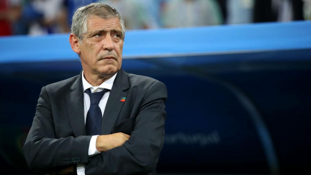 Fernando Santos, en el partido de Portugal contra Uruguay | Mundial 2018. (Getty)