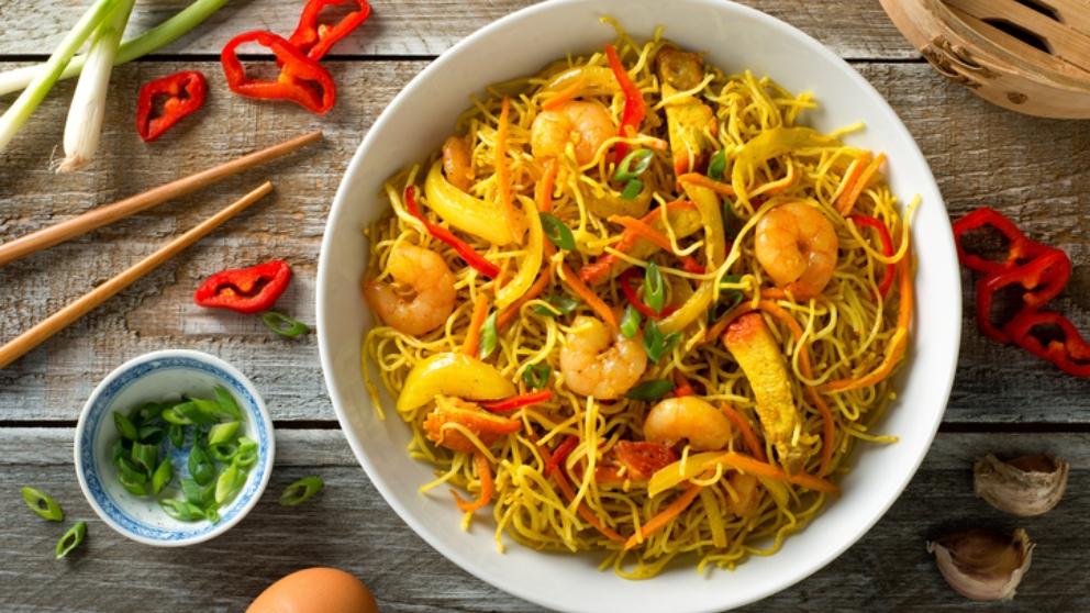Receta de Fideos fritos tres delicias chinos fáciles de preparar