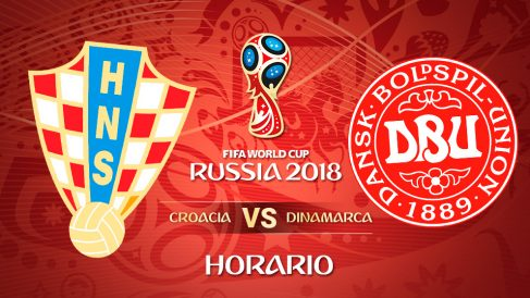Mundial 2018: Croacia – Dinamarca | Horario Mundial de Rusia