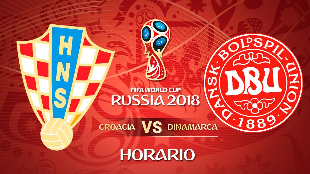 Mundial 2018: Croacia – Dinamarca   Horario Mundial de Rusia
