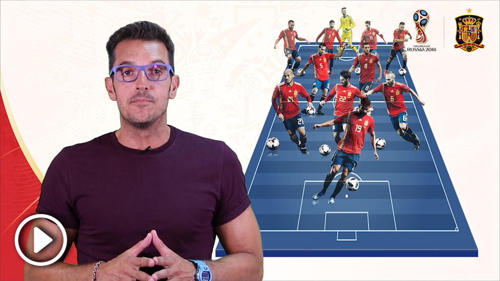 Esta es la alineación de España-Rusia. (vídeo: Lidia Rodríguez)