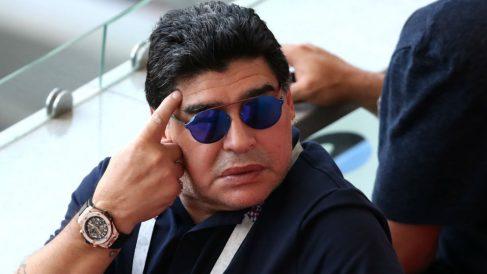 Reacción de Maradona al cuarto gol de Francia frente a Argentina. (Getty)