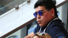 Reacción de Maradona al cuarto gol de Francia frente a Argentina en el Mundial 2018. (Getty)
