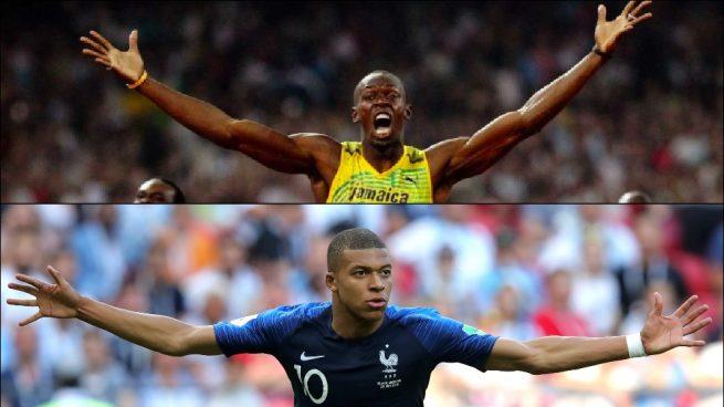 Mbappé corrió casi tan rápido como… ¡Usain Bolt!