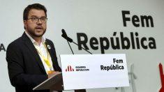 El vicepresidente de la Generalitat de Cataluña. Pere Aragonés