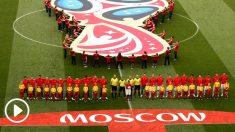 Himno de España ante Rusia. (Getty)