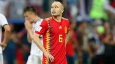 Iniesta, tras jugar su último partido con España. (Getty)
