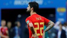 Isco, triste tras la eliminación de España ante Rusia.