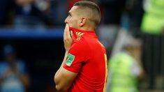 Koke se lamenta después de fallar el penalti en el España – Rusia. (Getty)