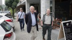 El candidato a las primarias del PP José Manuel García Margallo este domingo en San Sebastián
