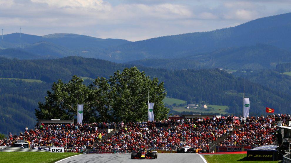 Max Verstappen en el GP de Austria con el Red Bull