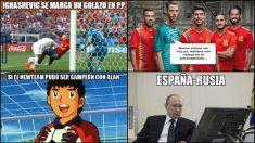 Los mejores memes del España-Rusia.