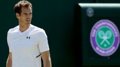 Andy Murray durante un entrenamiento en Wimbledon. (Getty)
