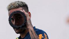 Neymar durante un entrenamiento con Brasil. (Getty)
