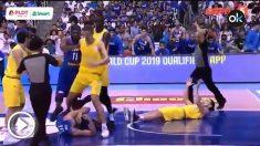 El inicio de la tremenda pelea entre Filipinas y Australia.