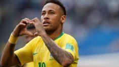 Neymar celebra el gol frente a la selección de México (Getty). | Brasil – México | Partido de hoy en directo