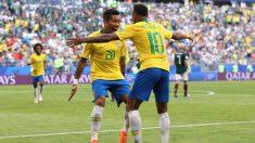Brasil pasa a cuartos de final del Mundial de Rusia (Getty). | Brasil – México | Partido de hoy en directo