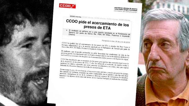 CCOO y UGT abandonan a sus víctimas y piden el acercamiento de los presosetarras