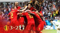 La selección belga marcó el gol del triunfo en el minuto 94.