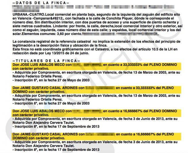 Titularidad de la sede de Fiadelso (Registro mercantil).