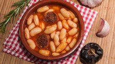 Receta de judiones de La Granja con morcilla fácil de preparar