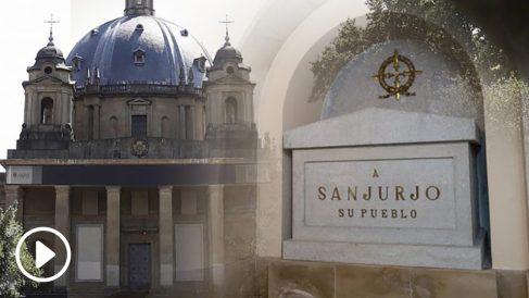 Cripta de donde se exhumaron los restos del general Sanjurjo