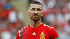 Sergio Ramos, en un partido del Mundial. (Getty)