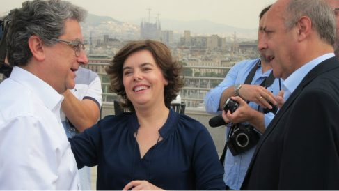 Enric Millo con Soraya Sáenz de Santamaría en una imagen de archivo