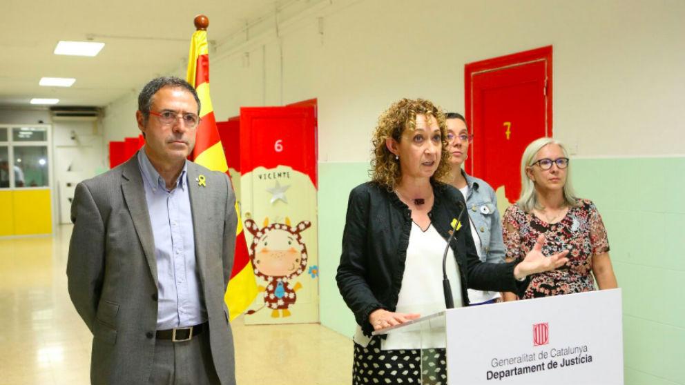 Amand Calderó junto a la consellera de Justicia, Ester Capella (Foto: @justiciacat)