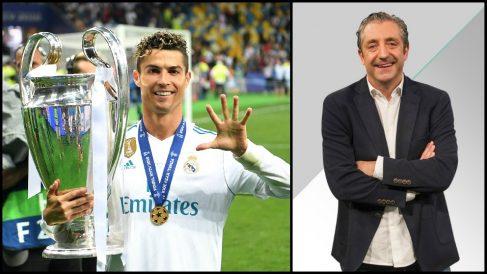 Cristiano Ronaldo y Josep Pedrerol.