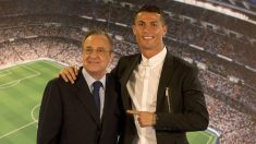 Cristiano Ronaldo y Florentino Pérez. (Getty)