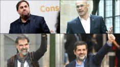 Oriol Junqueras, Raül Romeva, Jord Cuixart y Jordi Sànchez