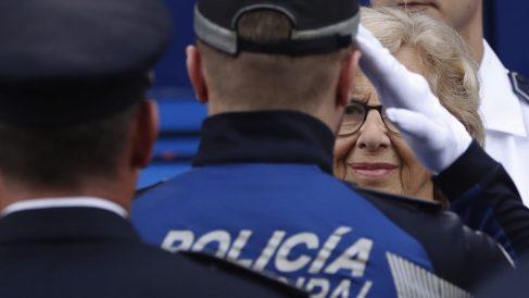 Manuela Carmena en el Día de la Policía Municipal. (Foto. EFE)