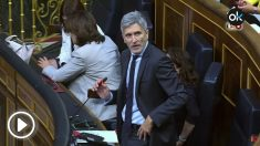 El ministro del Interior, Fernando Grande-Marlaska, en su escaño del Congreso