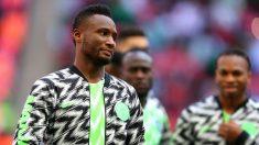 Obi Mikel, antes de un partido de Nigeria. (Getty)