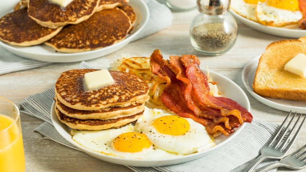Receta de Desayuno americano fácil de preparar paso a paso