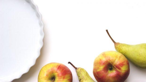 flan de manzana y pera