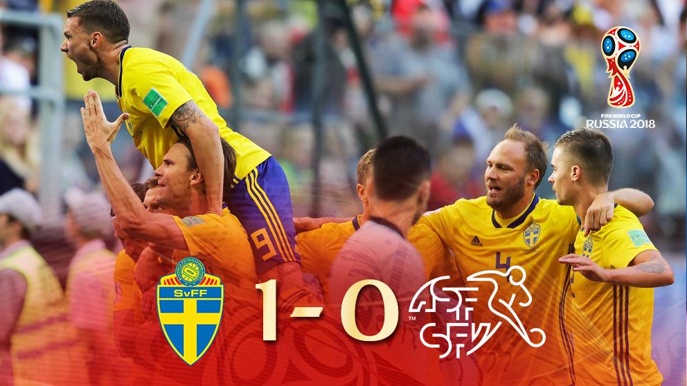 Suecia ya está en cuartos de final del Mundial de Rusia.
