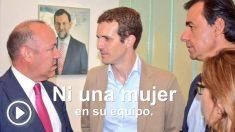 Fotograma del vídeo en el que se acusa a Pablo Casado de machista.