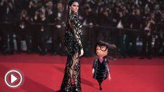 Kendall Jenner junto a Edna Moda de 'Los Increíbles 2'.