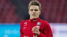 Martin Odegaard, con la selección noruega. (Getty)