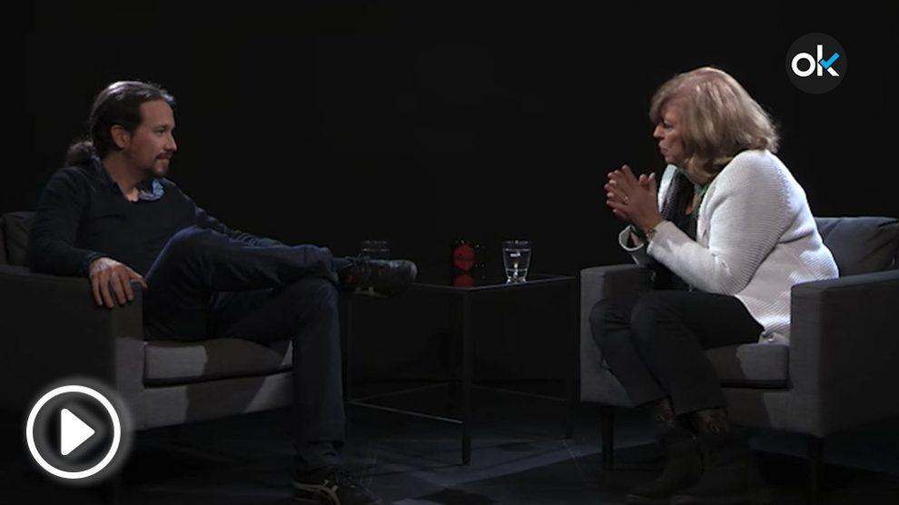 Rosa María Artal en la entrevista con Pablo Iglesias en La Tuerka.
