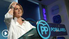 María Dolores de Cospedal tras caer derrotada en las Primarias del PP
