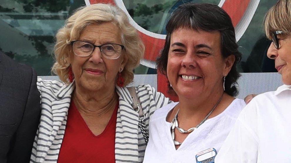 Manuela Carmena y Marta Gómez Lahoz. (Foto. Madrid)